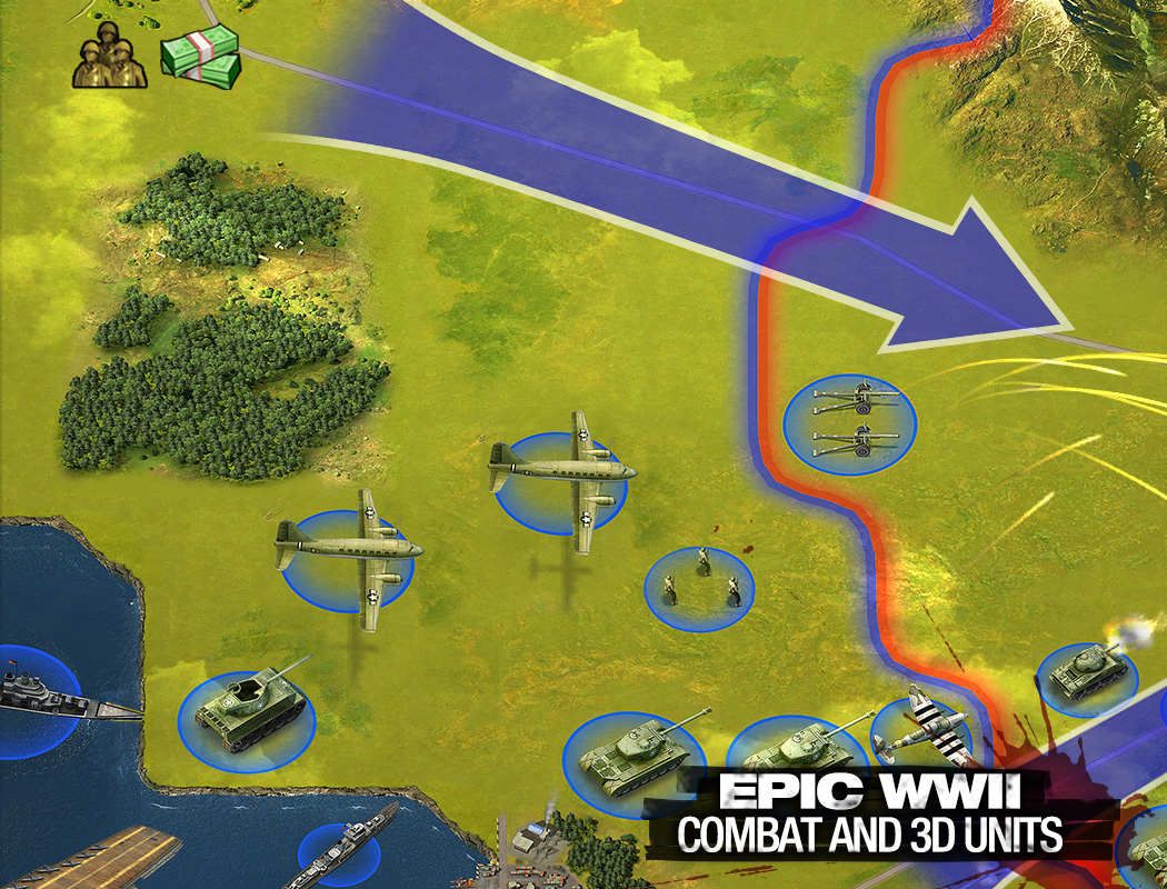 Epic WWII Combat and 3D Units!
